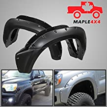 Maple4x4 2012 - 2014 Toyota Tacoma Injection Molded Fender Flares -- Smooth Black Paintable Pocket Style 4pc Kit w/ Installation Hardware and Instructions