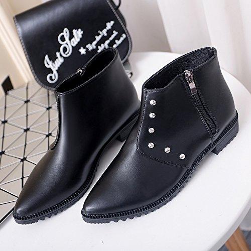 AGECC Damen Stiefel Bequeme Schöne Durable Low Heels Stiefel Spitz Orange Stiefel Winter Stiefel Schuhe Stiefel EIN Martin