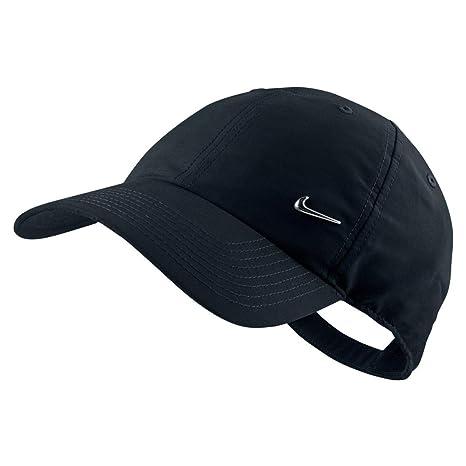 279d57680c9a Nike Metal Swoosh Black Unisex Adult Baseball Cap/Hat One Size ...