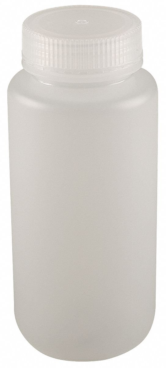 Wide Mouth, Round, Reagent, HDPE, 1000mL, 6 PK