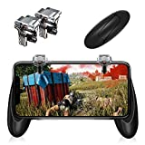 Mobile Game Controller【Upgraded Version】- PUBG/Fortnite / Knives Out Mobile Controller,Sensitive Shoot and Aim Triggers for L1R1 Mobile Game Trigger Joystick for Android & iPhone (Transparent)