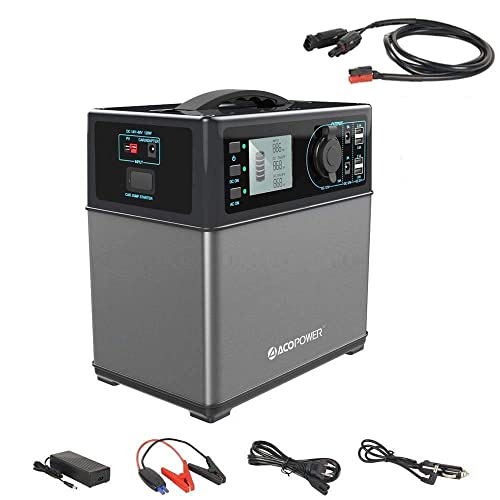 HY-PS5B ACOPOWER 400Wh Portable Solar Generator Power Supply Energy Storage Lithium ion Battery Charged by Solar AC Outlet Cars with 300W AC Pure Sine Wave Inverter