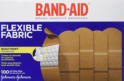 Band-Aid Johnson & Johnson curita, tela, cajas de 100-cuenta