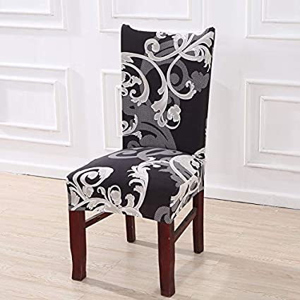 Amazon.com: 1/2/4/6PCS Kitchen Chair Covers Stretch Seat ...
