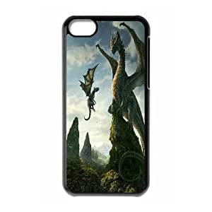 UNI-BEE PHONE CASE For Iphone 5c -Dragon & Beast-CASE-STYLE 3
