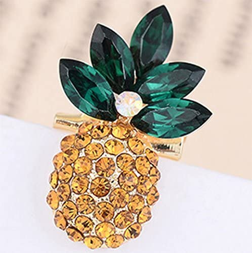 Fruit pineapple Brooch Pin Style Delicate Gold Plated Cocktail Gift