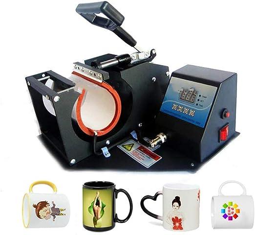 QWERTOUY Taza portátil Digital Prensa del Calor de la máquina de ...