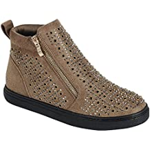 Valentines Day Sale Glittery High Top Sneaker Bootie Faux Leather For Women (Assorted Colors)