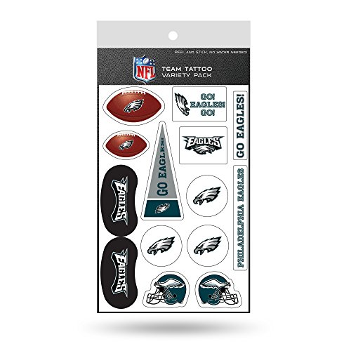 Rico Industries NFL Philadelphia Eagles Tattoo Variety Pack ()