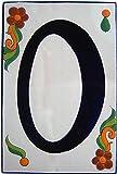 Big Talavera Ceramic Building Number Zero