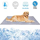 Pet Cooling Mat,Muswanna Reversible Foldable 31.5'' X 43.3'' Extra Large Dog Cooling Blanket