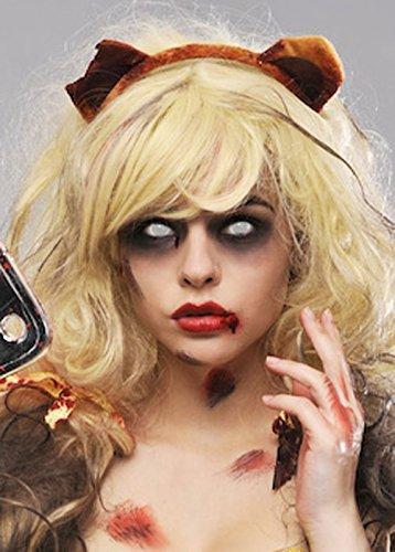 [Zombie Goldilocks Teddy Bear Ears] (Evil Teddy Bear Halloween Costume)