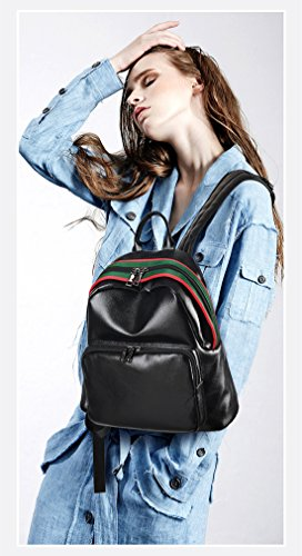 MATAGA - Bolso mochila  de poliuretano para mujer Azul