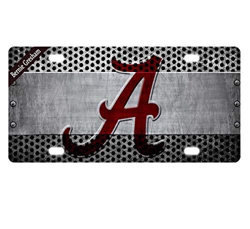 Bernie Gresham License Plate Cover Alabama Metal License Plate Cover Decorative Car License Plate Auto Tag Sign 6x12 Inch