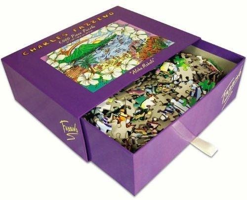 CHARLES FAZZINO Aloha Mahalo GLITTER PUZZLE 1000 Piece Puzzle (Size 20 X 27)