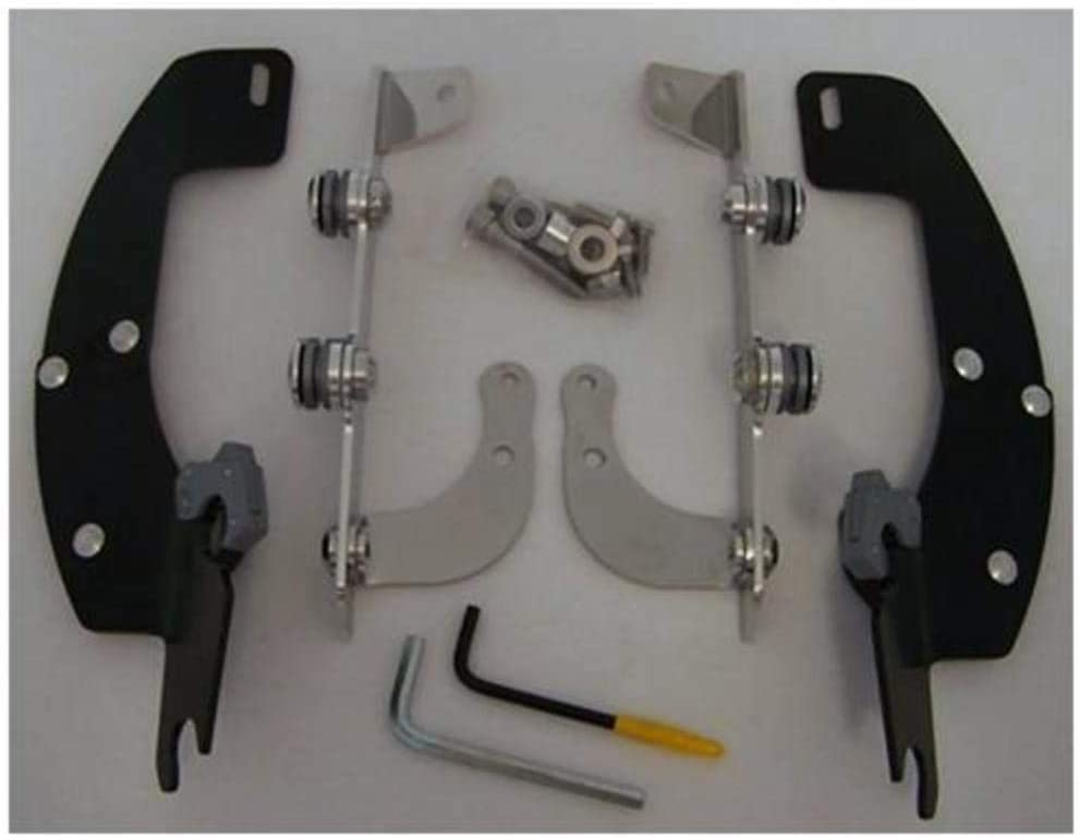 Memphis Shades MEM8991 Black Trigger-Lock Mount Kit fits Honda VT750//1100 Shadow Models 1998-2007