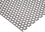 A36 Steel Perforated Sheet, Unpolished (Mill) Finish, Hot Rolled, Staggered 0.375'' Holes, ASTM A36, 0.06'' Thickness, 16 Gauge, 12'' Width, 48'' Length, 0.5625'' Center to Center