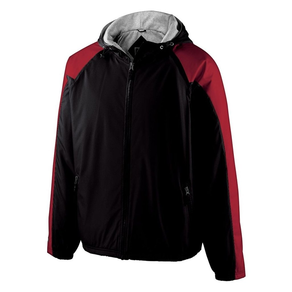 Holloway Youth Homefield Shell Jacket (X-Large, Black/Scarlet) by Holloway