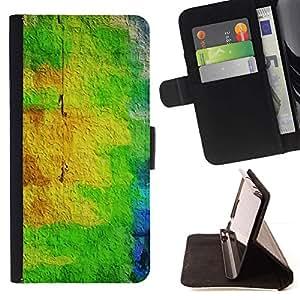 Amarillo pintura abstracta colorida- Modelo colorido cuero de la carpeta del tirón del caso cubierta piel Holster Funda protecció Para Apple iPhone 5C