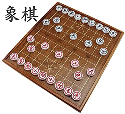 "Chinese Chess (Xiangqi) Travel Set ~ 15"" Natural Wooden Board and 1.25"" inch Large Acrylic Playing Pieces ZZ00056 ~ We Pay Your Sales Tax"