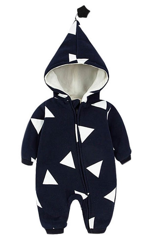 Fluffy Baby Autumn And Winter Thick Sweater, Dark BLue And White Triangle GM-CLO9057177011-ADAM00256