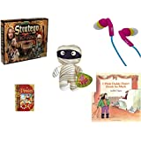 "Children's Fun & Educational Gift Bundle - Ages 6-12 [5 Piece] - The Lord of The Rings Stratego Game - iHip Ip-Passion 4 Color Earphones - Sugarloaf Kelly Toys Mummy Doll Plush 11"" - Adventure Gui"