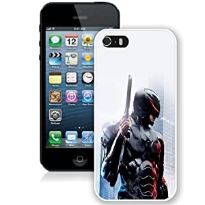 Customized Phone Case Robocop 2014 Armor iPhone 5s Wallpaper in White