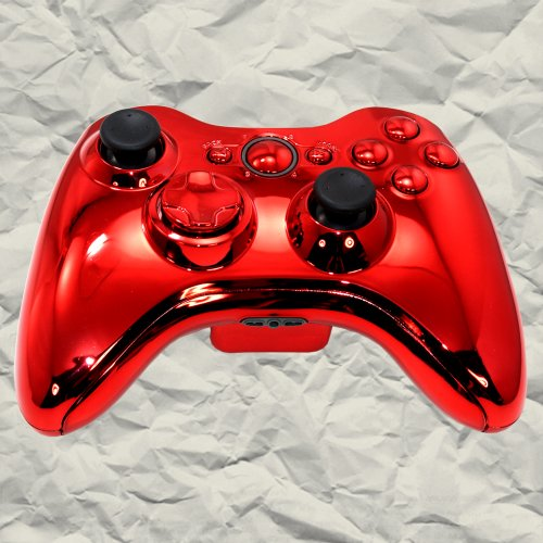 Red Chrome XBOX 360 Controller Shell Kit, Best Gadgets