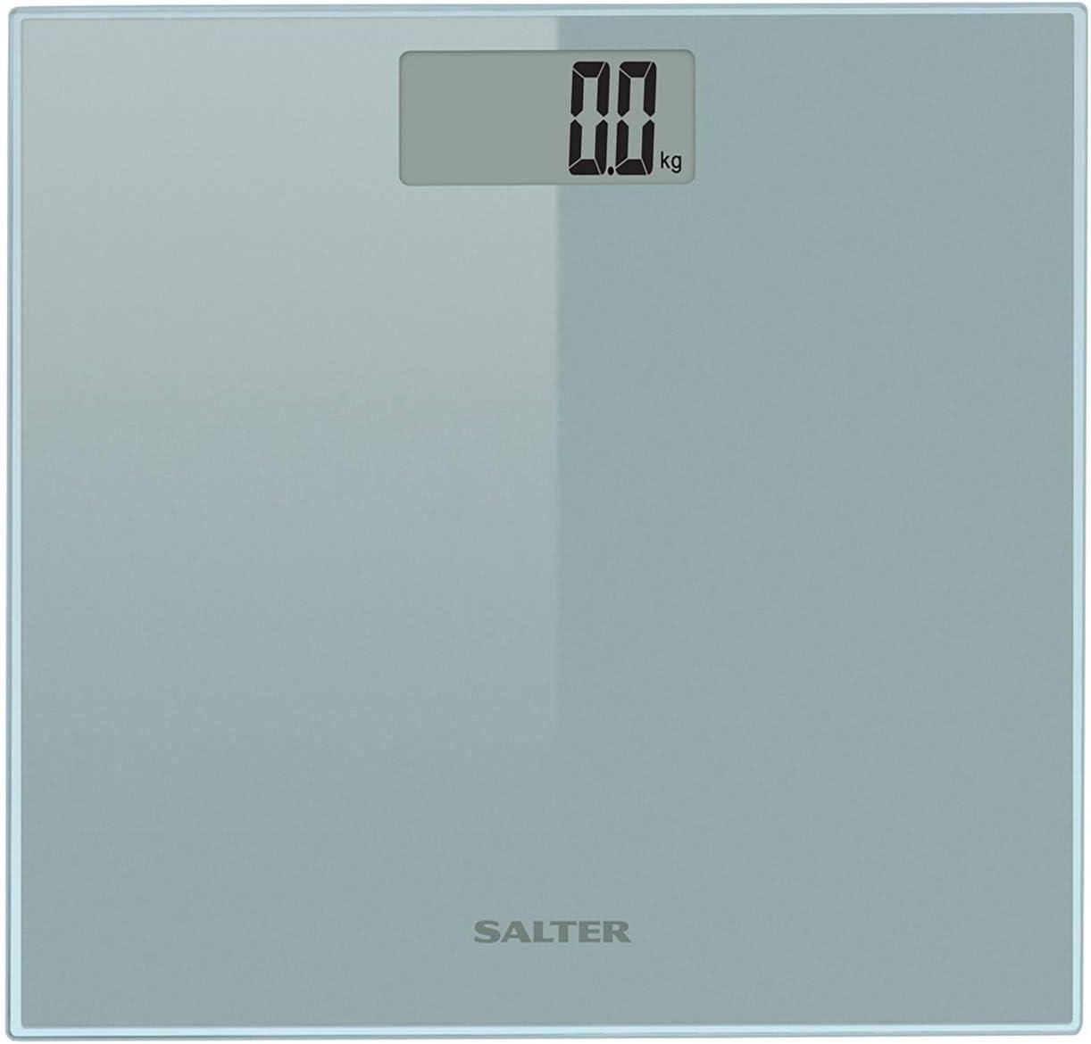 Salter Báscula de baño electrónica, 8 mm de vidrio templado, Pantalla de fácil lectura, Garantía 15 años