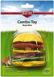 Kaytee Super Pet Hamburger Small Animal Toy, Wood and Loofah