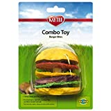 Super Pet Hamburger Small Animal Toy, Wood and Loofah