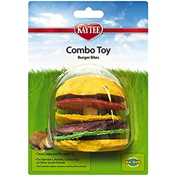 Amazon.com : Super Pet Hamburger Small Animal Toy, Wood