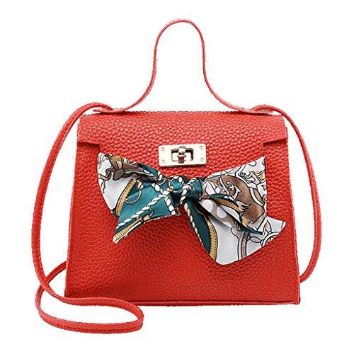 Bioplj Clearance Sale Shoulder Bag For Women Mini Crossbody Satchel Bag Messenger BagTote Shoulder Handbags Messenger Bag (Red)