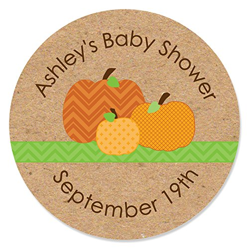 Custom Pumpkin Patch - Personalized Fall & Halloween Party Circle Sticker Labels - 24 -