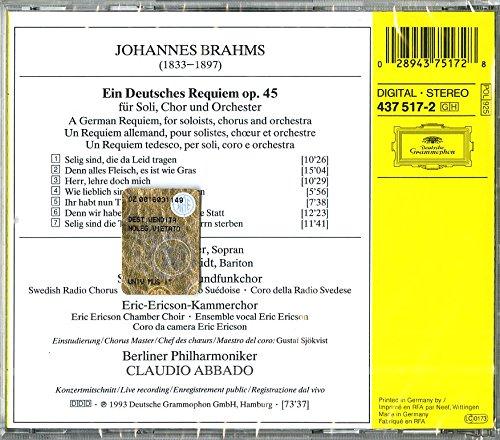 Brahms: Ein Deutsches Requiem (A German Requiem),Op.45