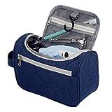 KaLaiXing brand Travel Wash Bag. Travel Hanging Toiletry Bag Make up Wash Bags Organiser Shaving dopp kit Bag with Extra Hook for Men and Women Ladies-Dark Blue