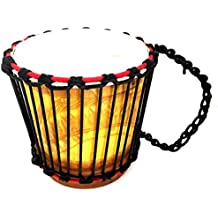 Djembe Drum African Percussion Hand Carved Kyinsin Portable Bongo Congo Wood Drum, PROFESSIONAL QUALITY - JIVE FEDERAL (TM) BRAND
