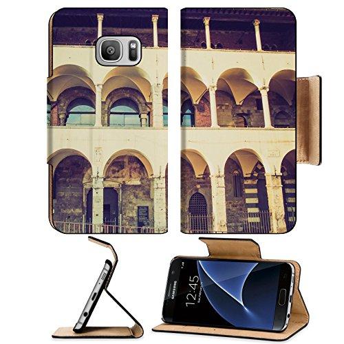 Liili Premium Samsung Galaxy S7 Flip Pu Leather Wallet Case Vintage looking Commenda di Pre catholic convent part of the San Giovanni church complex in Genoa - Glasses Giovanni