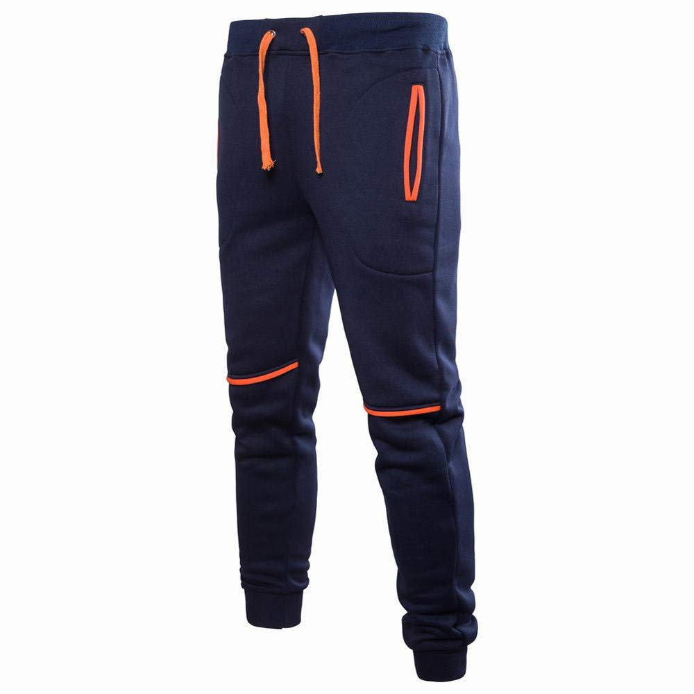 952d033f Amazon.com: Yutao Men's Gym Jogger Pants Slim Fit Workout Running  Sweatpants with Zipper Pockets: Clothing
