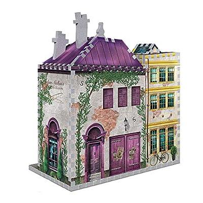 Wrebbit 3D Puzzle DIAGON_3 Harry Potter Madam Malkin's & Florean Fortecsue's Ice Cream 290, White: Toys & Games
