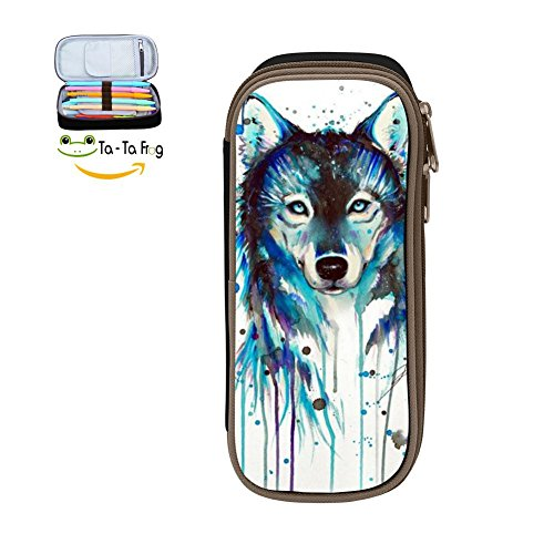 3D Print Animal Multicolor pen bag,Pencil case Teens pen container,Double zipper student stationery girl's durable large volume bag of makeup bag