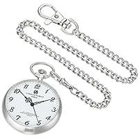 Charles-Hubert, reloj de bolsillo de cuarzo de acero inoxidable de París