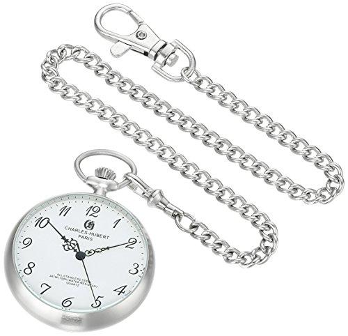 Charles-Hubert, Paris Stainless Steel Quartz Pocket Watch from Charles-Hubert, Paris