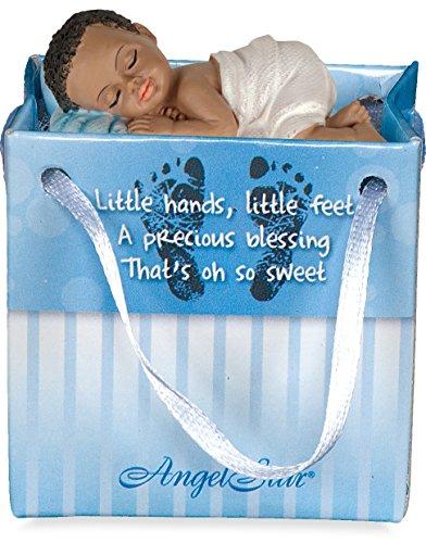 AngelStar 20111-4 Ethnic Newborn Gifts to Go Boy Pillow, 2-1/4