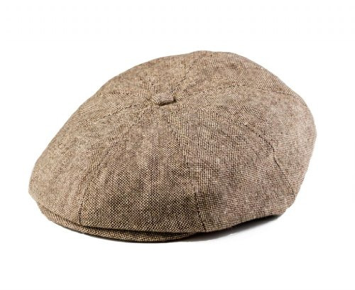 Born To Love Boy's Tan and Brown Newsboy Cap- L (4-5 yrs 54 CM)