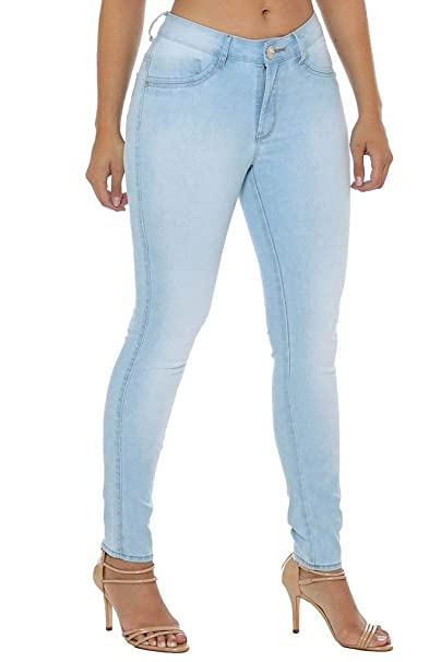 ee72c25cc Calça Jeans Denuncia Mid Rise Skinny Azul 38: Amazon.com.br: Amazon Moda