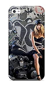 Fashion Protective Alessandra Ambrosio On A Bike Case Cover For Iphone 5c