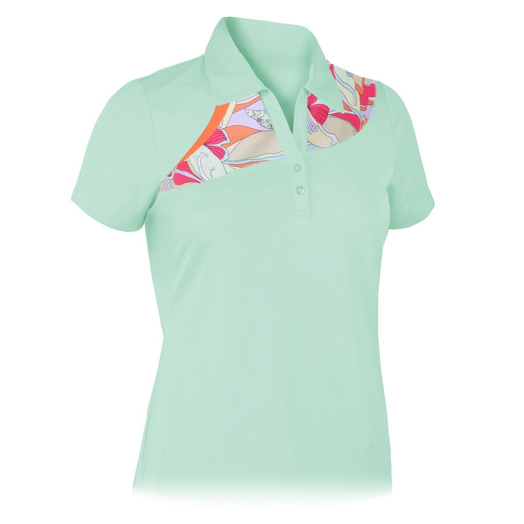7c7aa9bf641bc Amazon.com  Monterey Club Ladies Dry Swing Abstract Print Colorblock Shirt   2659  Sports   Outdoors