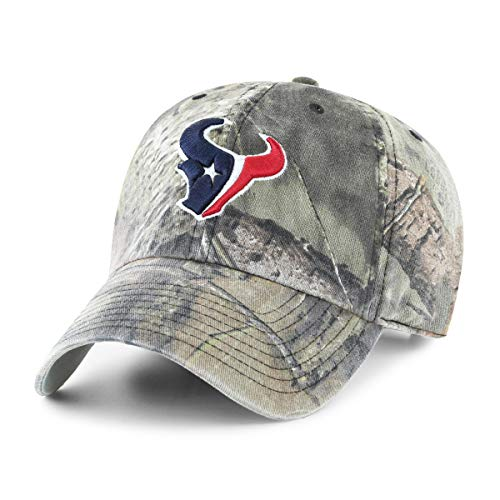OTS NFL Houston Texans Male Mossy Oak Challenger Adjustable Hat, Mossy Oak-Break Up Country, One Size]()