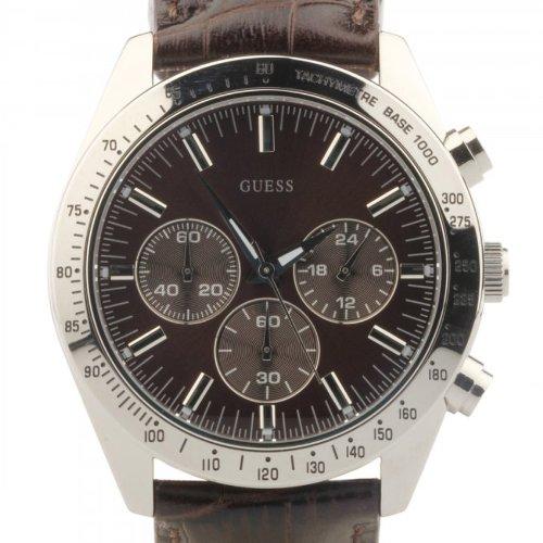 97bc6b4a670e Guess - W12004G2 - Montre Homme - Quartz Analogique - Cadran Marron - Bracelet  Cuir Marron  Guess  Amazon.fr  Montres